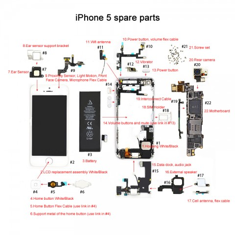 iphone 5 5c 5s spare parts eastern glory rh easternglory hk iPhone 4S Internal Parts Diagram iphone 5 internal parts diagram